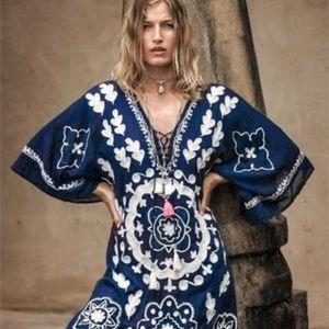 Bohemian Chic Kaftan style Casual Dress Sz S/M